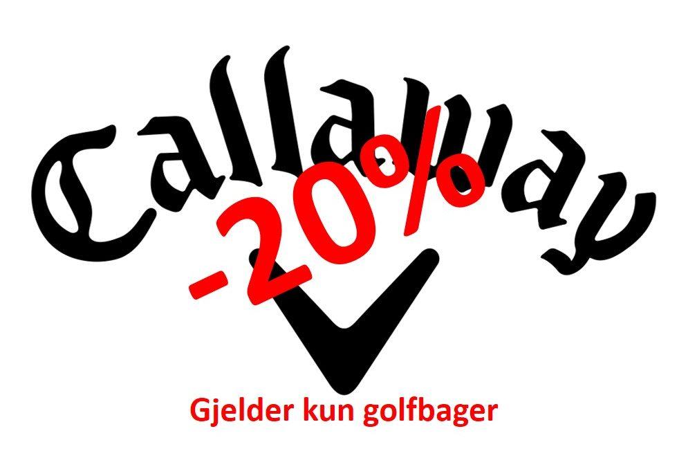 -20% på alle Callaway golfbager