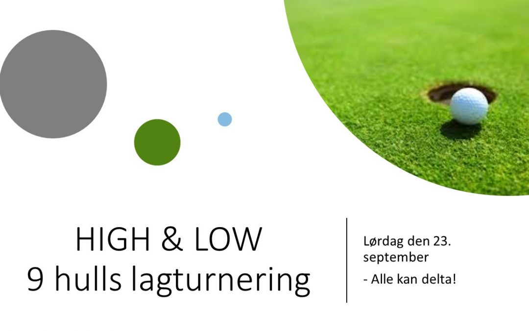 High & Low 9 hulls lagtunering for alle 23. sept